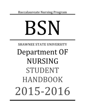 Fillable Online shawnee SHAWNEE STATE UNIVERSITY