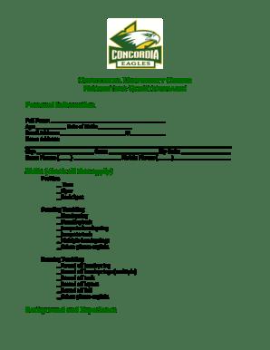 Fillable Online cui Concordia University Cheer Recruiting