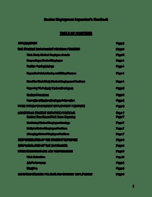 Fillable Online keystone Student Employment Supervisors