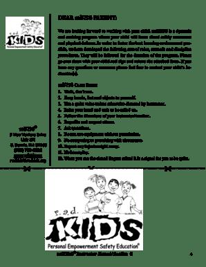 Fillable Online DEAR radKIDS PARENT Fax Email Print