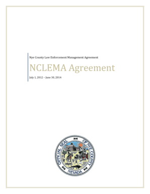 Fillable Online Nye County Law Enforcement Management