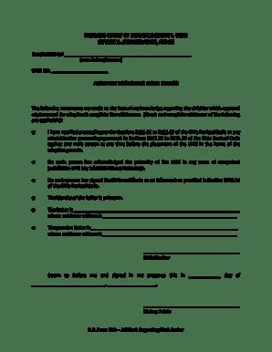 Fillable Online Affidavit regarding birth father