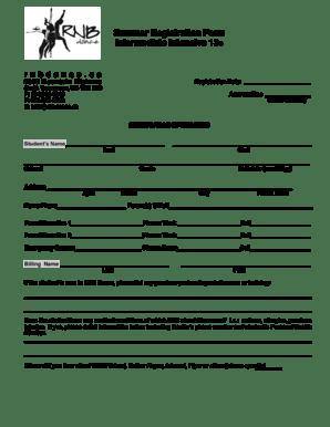Fillable Online Summer Registration Form Intermediate