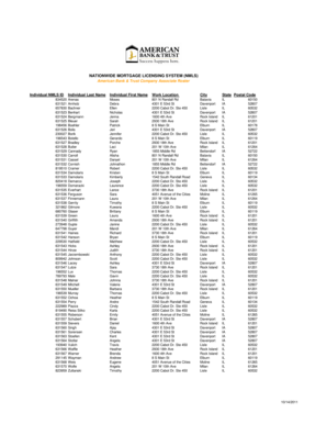 Fillable Online NATIONWIDE MORTGAGE LICENSING SYSTEM NMLS