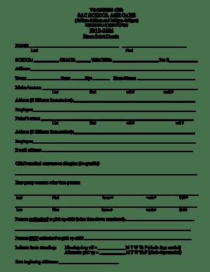 Fillable Online REGISTRATION FORM 2015-2016