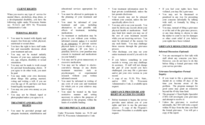 Fillable Online Client Rights Grievance Procedures Fax
