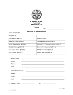 Fillable Online Form M-Special Permit Application Form-04