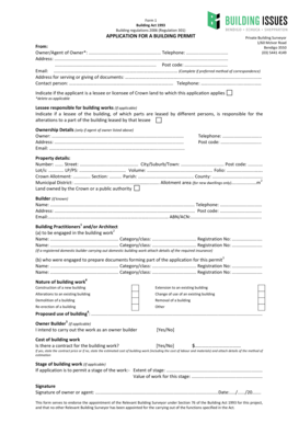 Fillable Online Form 1 Building bPermitb Application Form