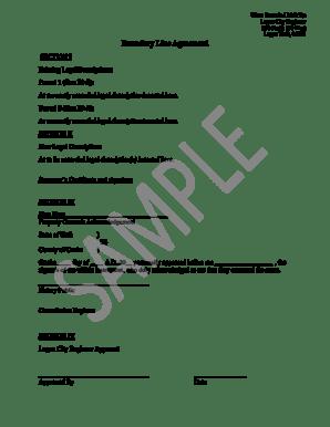Fillable Online loganutah Boundary Line Sample Form