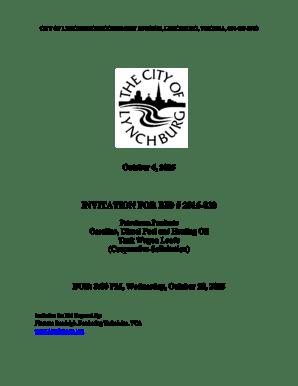 Fillable Online lynchburgva CITY OF LYNCHBURG PROCUREMENT