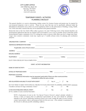 126 Printable Event Planning Checklist Forms and Templates