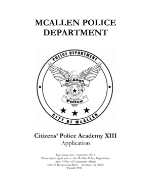 Fillable Online McAllen Police Department Fax Email Print