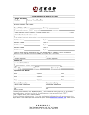 Fillable Online Account Transfer/Withdrawal Form Fax Email