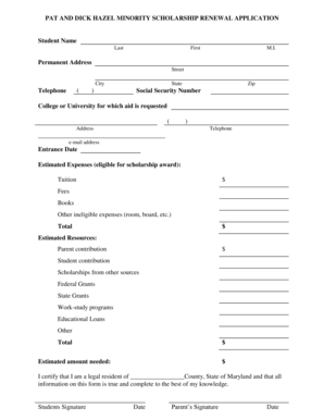 Fillable Online cfes PAT AND DICK HAZEL MINORITY