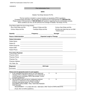 Fillable Online GEHA Prior Authorization Criteria Form