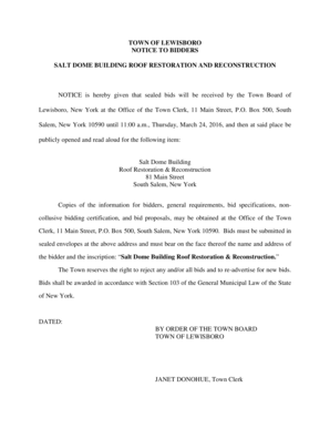 Fillable Online SALT DOME BUILDING ROOF RESTORATION AND