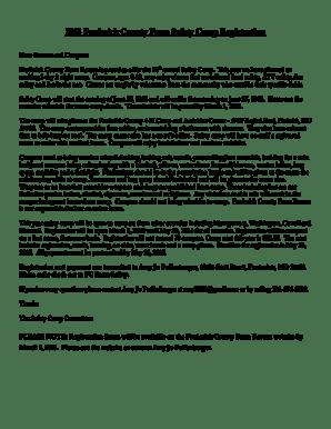 Fillable Online Frederick County Farm Bureau Fax Email