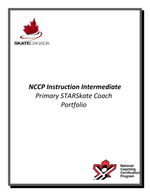 Fillable Online NCCP Instruction Intermediate Primary