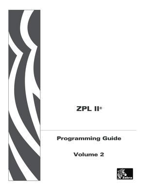 Fillable Online ZPL II Programming Guide Volume Two ZPL II