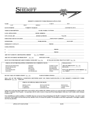 Fillable Online NAME CASE SS DATE OF BIRTH CURRENT CHARGES