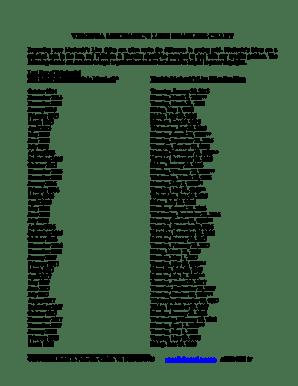 Fillable Online VIRGINIA MECHANICS LIEN DEADLINE CHART
