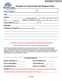 Horry County Foia Form - Fill Online, Printable, Fillable ...