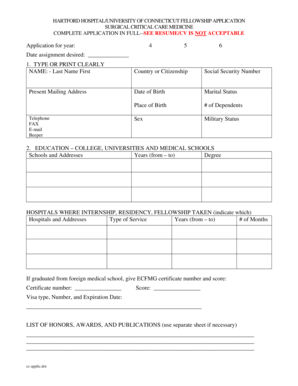 Fillable Online harthosp Download Application Form