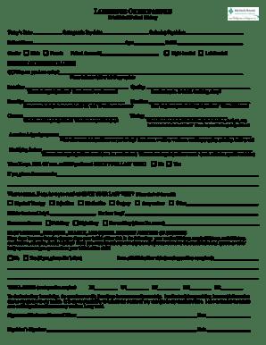 Fillable Online LSO Established Patient Form 08-11-09 Fax