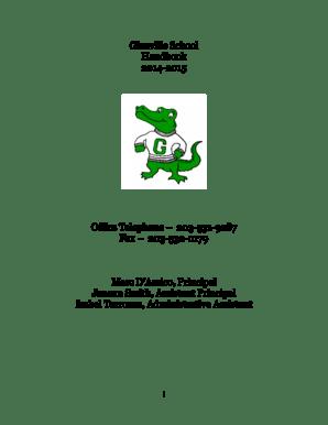 Fillable Online greenwichschools Glenville School Handbook