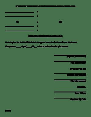 Fillable Online montcopa Notice to Retake Prior Surname