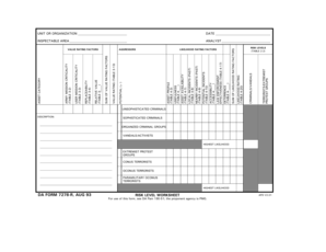 Fillable Online HIGHEST LIKELIHOOD DA FORM 7278-R AUG 93