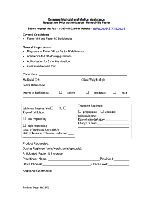 Fillable Online Delaware Medicaid and Medical Assistance
