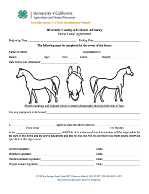 18 Printable horse lease prices Forms and Templates