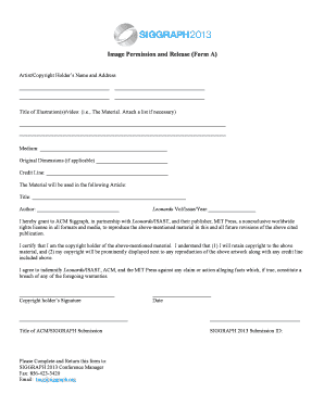 21 Printable copyright release form for artwork Templates