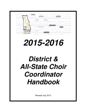 Fillable Online 2015-b2016b District amp All-State Choir