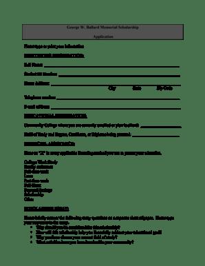 Fillable Online davidsonccc 2014 George W Ballard