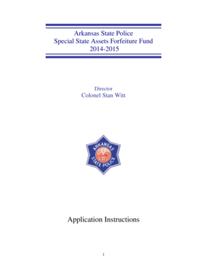 Fillable Online Arkansas State Police Special State Assets