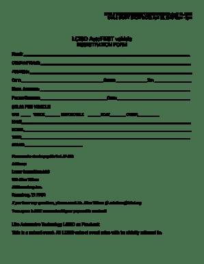 Fillable Online AutoFEST Vehicle Registration Form Fax