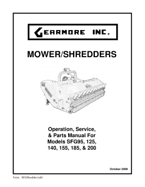 Fillable Online MOWER/SHREDDERS Operation, Service, & Fax