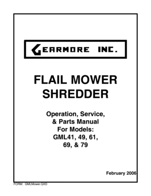 Fillable Online FLAIL MOWER SHREDDER Operation, Service