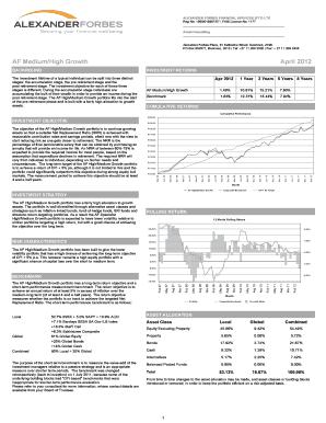Fillable Online AF MediumHigh Growth April 2012