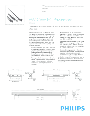 Fillable Online EW Cove EC Powercore 2700K Data Sheet