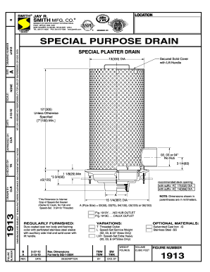 Fillable Online 1913 Special Planter Drain 1913 Special
