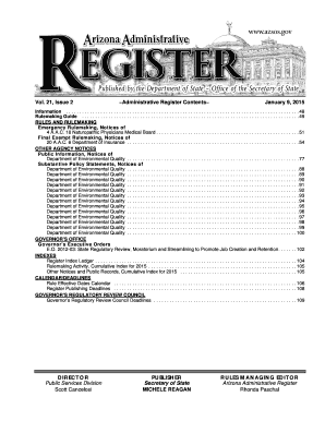 Fillable Online 21, Issue 2 Administrative Register
