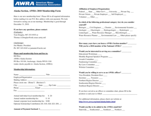 Fillable Online state awra Here is our new membership form