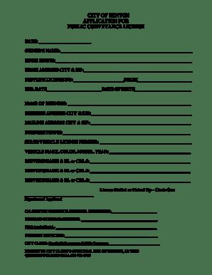 Fillable Online Public Conveyance License/Taxi Cab