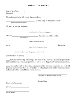 Submit Printable 7 Sample Personal Affidavit Forms Forms