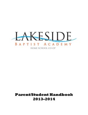 Fillable Online lakesidebc Parent/Student Handbook