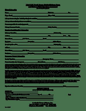 Fillable Online LSA LSC Youth Soccer Medical Release Form