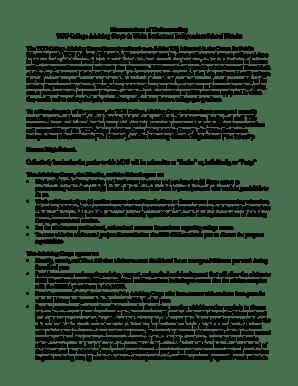 Fillable Online Memorandum of Understanding TCU College